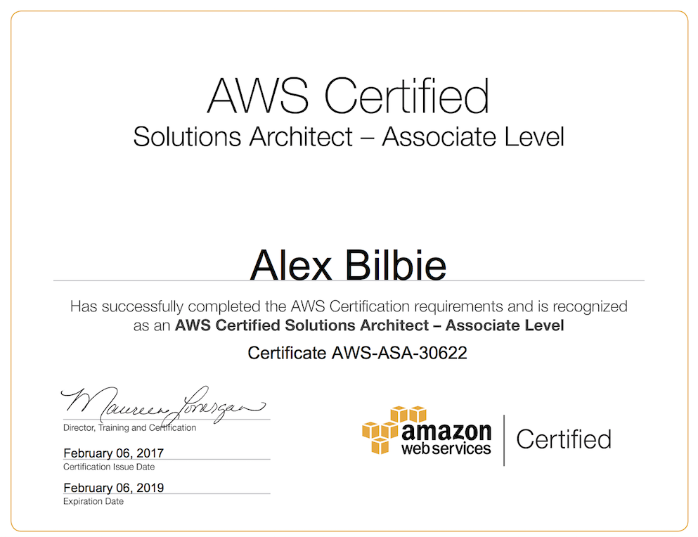 Amazon Web Services Solutions Architect Associate Certification ...